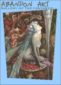 Caterpillar's Mushroom by fantasy artist Brian Froud